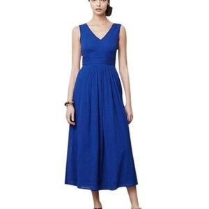 Anthrpo Edme & Esylitte Blue Caraiva Maxi Dress